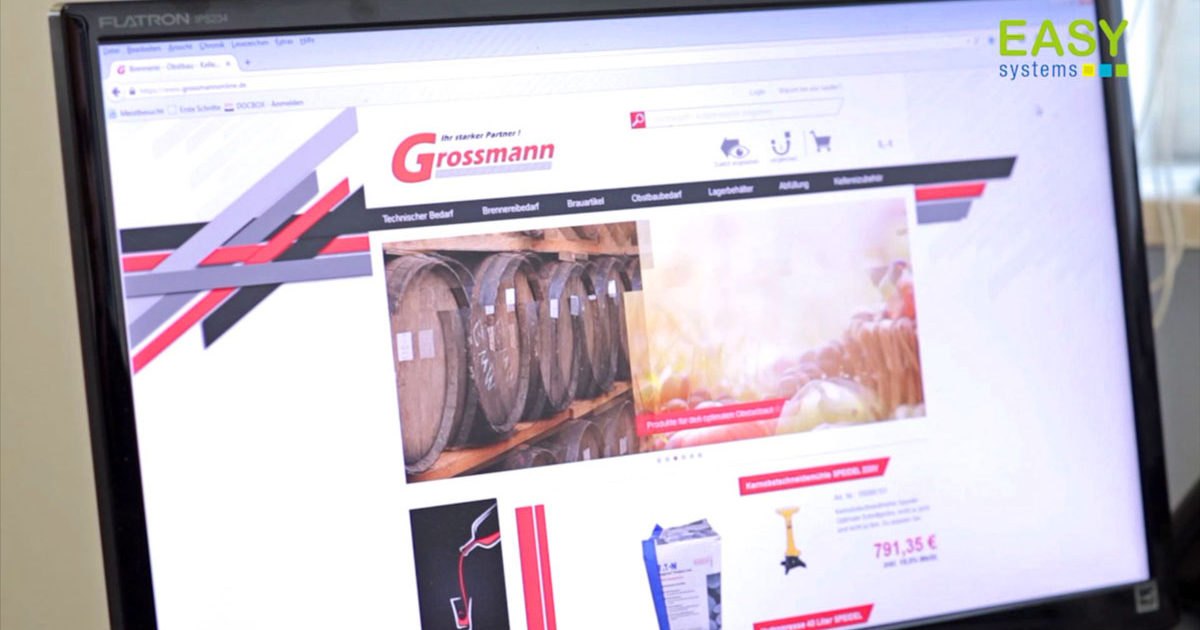 Screen Shot der Homepage von Grossmann KG