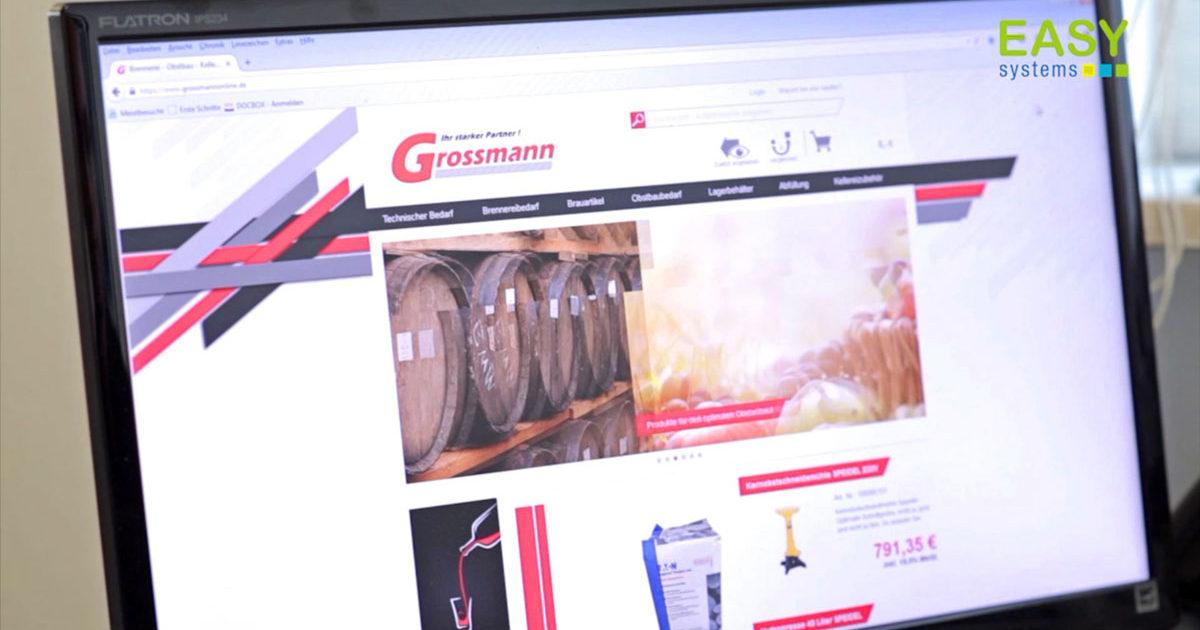 Screen Shot der Homepage von Grossmann KG