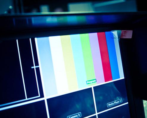 Live Schnitt im Television Studio